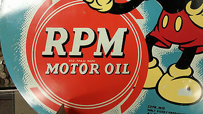 Original Mickey Mouse Metal RPM Oil sign 1939
