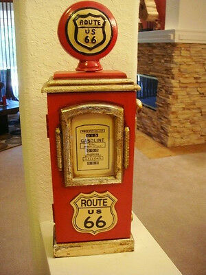 Gas Pump Route 66 Red Key Holder.