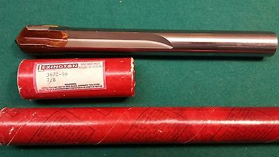 "New Lexington 7/8"" Die Drill - Part #3672-56 - 2 Straight 4 3/4"" Flutes, 8"" OAL"