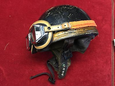 Casque Moto Vintage Bol Cromwell + Lunettes Climax