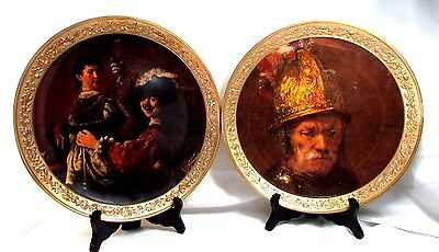 Gorham Gallery of the Masters plate Self Portrait w Saskia / Man w a Gilt Helmet