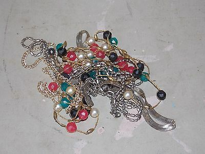 Lot Vintage Assorted Costume Jewelry Items Necklaces For Repair