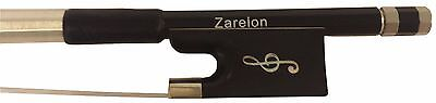 "4/4 Artist ""Clef"" Carbon Fiber Violin Bow with Zarelon Unbreakable Bow Hair"