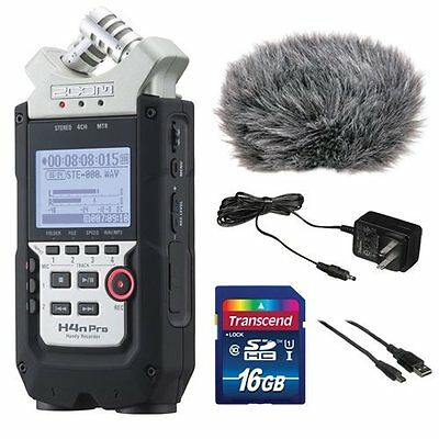 Zoom H4n Pro 4-Channel Handy Recorder Bundle