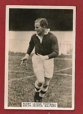 SALFORD FOOTBALL CLUB  EMLYN JENKINS 1935 Original card The WILLOWS City Reds
