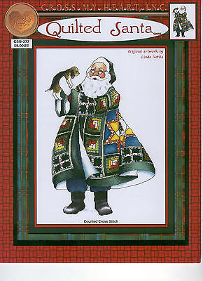 Cross My Heart Quilted Santa 277 Counted Cross Stitch Pattern Book