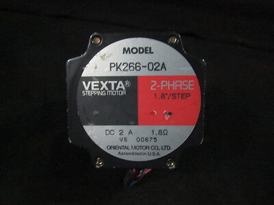 "Oriental Motor Pk266-02A 2 Phase 1.8"" Vexta Stepping Motor, A1008407"