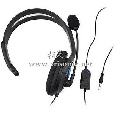 Deluxe Headset Headphone Single Ear With Microphone+Volume Control For Xbox One