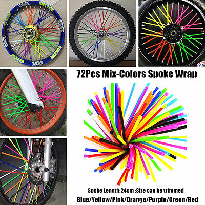 Multi-colors Spoke Wraps for KTM 125 250 350 400 450 525 530 SX SX-F XC-F EXC