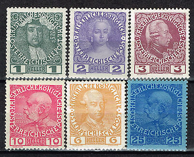 Austria Royalty Imperial House of Habsburg stamps 1910 MLH