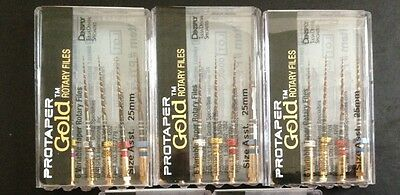 3 Packs of Dentsply Protaper Gold 21mm Assorted SX-F3