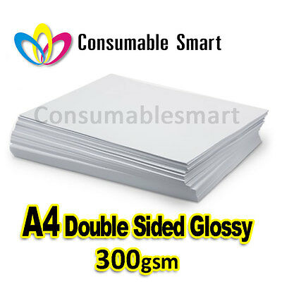 A4 300gsm Double Sided Glossy Inkjet Photo Paper Water Proof UV Resistant