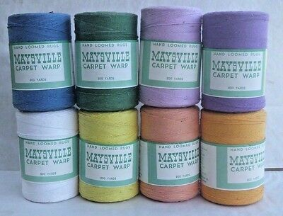 Maysville Carpet Warp - Hand Loomed Rugs - 800 Yards - 8 Rolls Assorted Colors