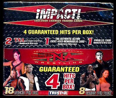 2008 TriStar TNA IMPACT Factory Sealed Wrestling Box ***(4) Hits Per Box***