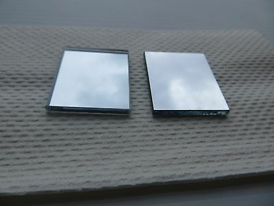 """2 pieces First Front Surface Mirror 1.5"""" x 1.25"""" x 1/8"""" thick lab camera laser"""
