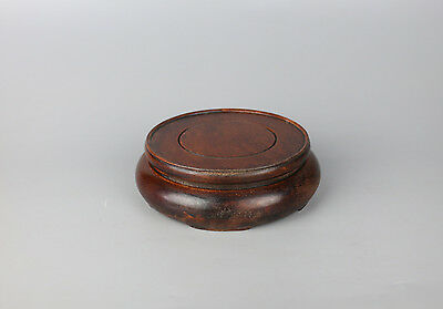 stand display pedestal wood China wooden carved round rosewood base