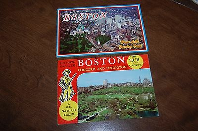 two old vintage historic Boston travel booklets
