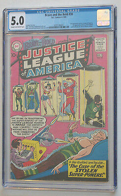 Brave and the Bold #30 CGC 5.0 VG/FN 3rd Justice League of America JLA 1st Amazo
