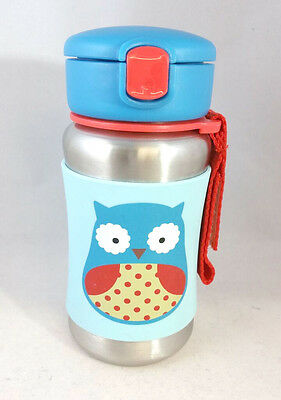 Baby Sippy Cup Stainless Steel Straw Drinking Feeding Bottle 12 oz Skip Hop Zoo