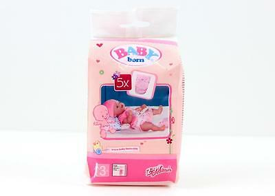 Baby Born Accessory Set of 5 Nappies  Doll Diapers Set New