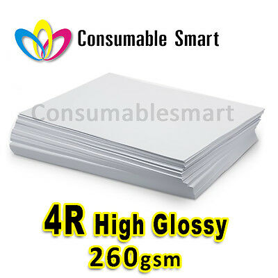 4R 4x6 260gsm High Glossy Inkjet Photo Paper Water Proof UV Resistant