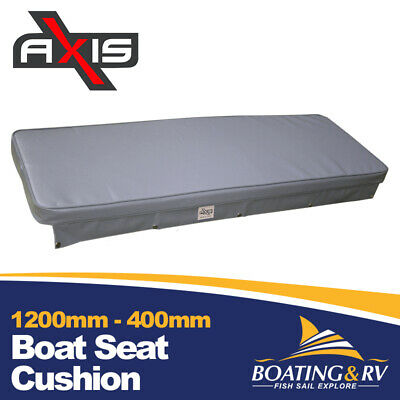 1200mm x 400mm Boat Cushion Upholstered Vinyl Marine Tinnie Relaxn Grey Seat