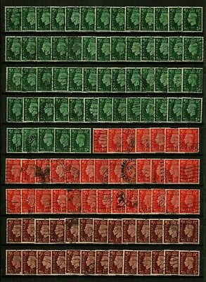 Great Britain, GVI 1937-39 Definitives, 269 Used Stamps