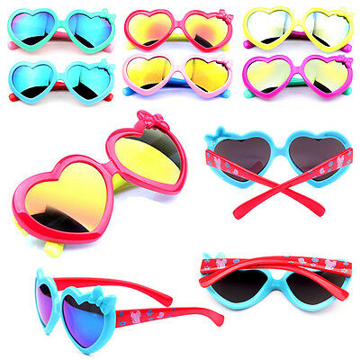 Boys Baby Sunglasses Colorful Heart Children UV Protection Girls Goggles