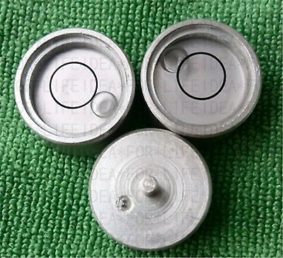 2pcs 30*19.5*13mm Round Disc Circular Level Bubble Vial,Metal base mount #C31G