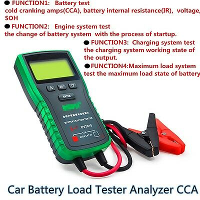 12V Digital Car Battery System Load Tester Analyzer with English manual DY2015A
