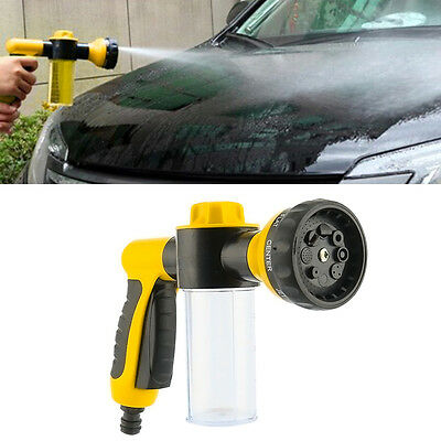 8 in 1 Adjustable Spray Pattern Water Gun&Soap Dispenser Hose Nozzle Car Wash