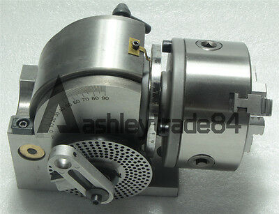 "ECO BS-0 Precision Dividing Head With 5"" 3-jaw Chuck & Tailstock, Part#: BS-0"