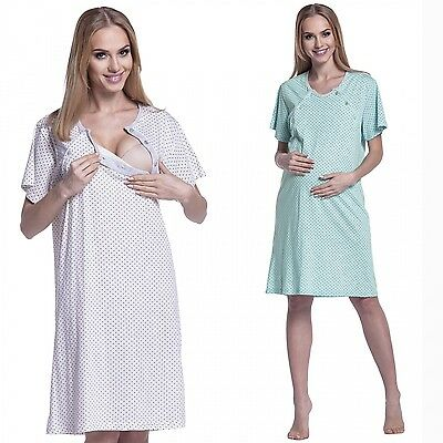 Happy Mama. Women's Maternity Hospital Gown Nightie for Labour and Birth. 555p
