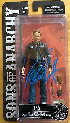 Charlie Hunnam Signed Figure Sons Of Anarchy Jax Proof Pics Mezco Toys