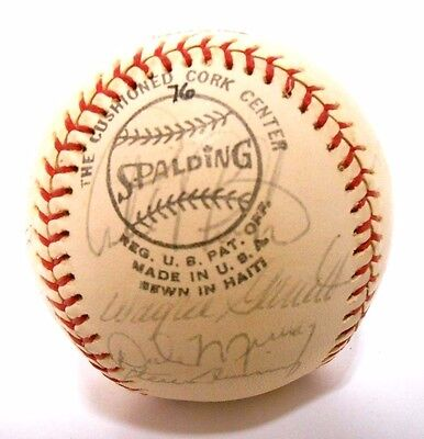 Gary Carter Larry Parrish 1976 Montreal Expos Signed Autographed Baseball Ball