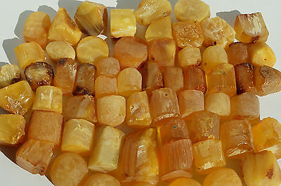 Antique  Baltic Sea Raw Amber Stones Forms 111 Grams Beeswax Color