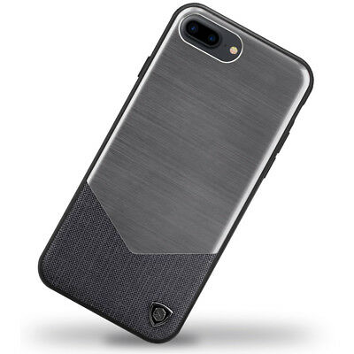 Nillkin Lensen Brushed Alloy & Leather Rear Case for Apple iPhone 7 PLUS - Black