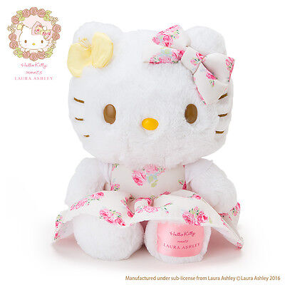 Sanrio Hello Kitty meets LAURA ASHLEY Plush Doll From Japan New w/Tracking