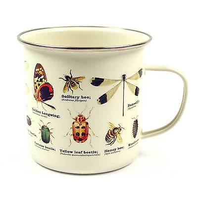 Insects Enamel Mug from the Ecologie Insectum Range by Gift Republic
