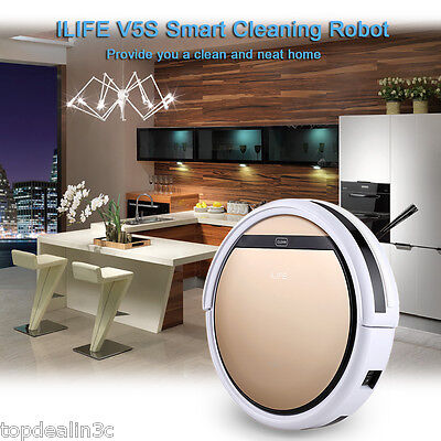 ILIFE V5S Smart IR Vacuum Microfiber Cleaning Robot Robotic Cleaner+ Water Tank