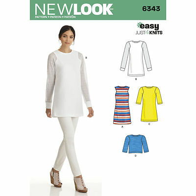 NEW LOOK Sewing Pattern Miss Women Plus Tunic in Two Lengths+Top~6343