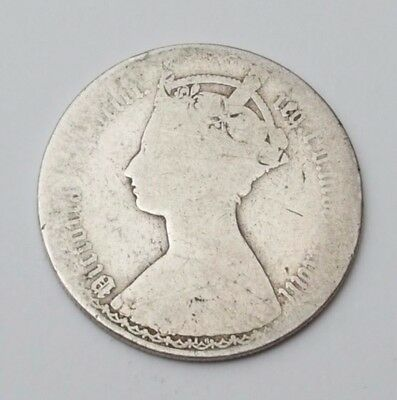 1878 Mdccclxxbiii Silver Gothic Florin Queen Victoria British Coin Great Britain