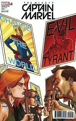 MIGHTY CAPTAIN MARVEL #0 Johnson Variant NM 1st Print Marvel Comics NOW Stohl