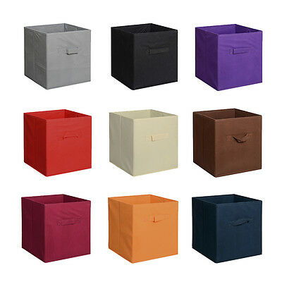 6 Pieces Home Storage Bins Organizer Fabric Cube Boxes Basket Drawer Container