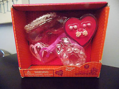 "Battat Our Generation Tickled Pink Jewelry Earring Hair Set 18"" Doll Set NIB"