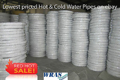 Plumbing & Hot & Cold Water WRAS approved 15mm Pex Pipe 100m coil