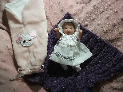 Ooak Partial Sculpt Beautiful Baby Girl Jenna 4'' resale