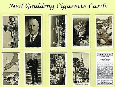 Ardath - Our Empire 1937 #1 to #50 Cigarette Cards
