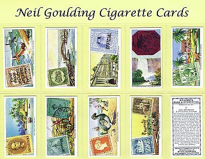 Ardath - Stamps Rare & Interesting 1939 #1 to #50 Cigarette Cards