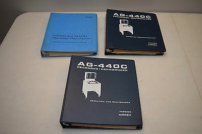 Ampex AG-440c, AG500, AL500 - Service manuals, owners and schematics.